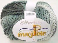 Euro Baby MAYPOLE Chunky Yarn / Wool 100g - 02 White/Grey/Charcoal